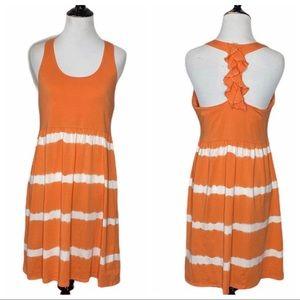 Soybu  Orange tie dye T-back dress - Size L